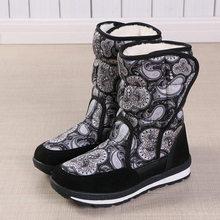 Phụ Nữ Mùa Đông Giày Đế Chống Trơn Trượt Chống Nước Mùa Đông Giày Nữ Mắt Cá Chân Giày Lông Dày Dặn Ấm Nữ Ủng Cho -40 Độ(China)