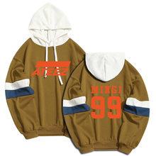 Cool ATEEZ conception hommes sweat à capuche pour femme à capuche sweat-shirt décontracté amour Kpop Streetwear Patchwork pulls Hip Hop unisexe vêtements(China)