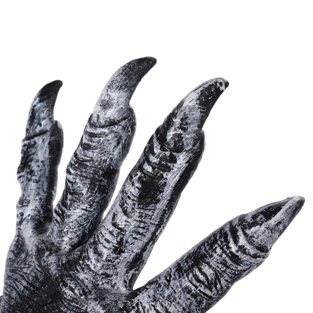 Formulaone Guantes de Hombre Lobo de Halloween Guantes de l/átex de Animales Peludos Garras de Lobo Halloween Prop Horror Devil Party Club Suministros Guantes espeluznantes-Negro