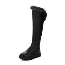 SOPHITINA kış yeni botlar rahat yuvarlak ayak moda fermuar zarif el yapımı kadın ayakkabı büyük boy 33-43 katı çizmeler PO376(China)