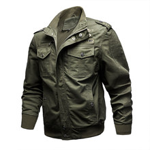 Chaqueta de piloto de vuelo primavera otoño chaqueta táctica militar para hombre chaqueta Cazadora Bomber chaqueta militar hombre 6XL(China)