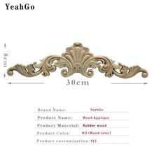 YeahGo деревянная мебель в Европейском стиле, фон для украшения стен, резьба по дереву, наклейки, домашнее украшение, аппликация по дереву, аксе...(Китай)