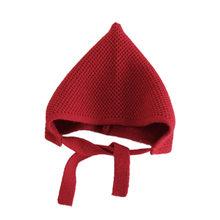 เด็กหมวกฤดูหนาวหมวกเด็กหญิงเด็ก Solid พิมพ์หมวกเด็กน่ารักถักหมวกเด็กถักแฟชั่น 8 สี 3-8 ปี(China)