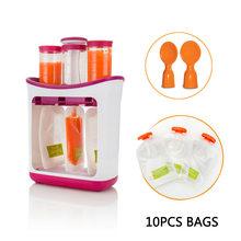 Baby Food Maker Squeeze Organic Food Machine Kids Fresh Fruit Juice Feeding Containers Storage Newborn Breast Milk Storage Bag(China)
