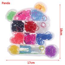 מכירה לוהטת 600pcs צבעוני גומי נול להקות מארג אלסטי לעשות צמיד כלי DIY סט ערכת תיבת בנות מתנת ילדי צעצועים לילדים(China)