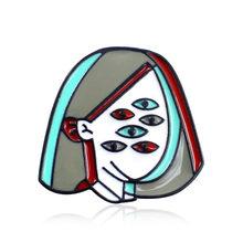 Delle Donne della ragazza Spilla Maschera Assassino Jason, PIZZA DELLA REGINA, Poecasso, molti occhi Ragazza spazio Blu Alien Donna Femminismo Dello Smalto Spille Gioielli Distintivo(China)