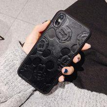 חם חמוד מיני מאוס רך עור טלפון מקרה עבור iphone 6 plus 7 7 בתוספת 8 8 בתוספת X XS XR מקסימום 11 פרו ורוד באיכות גבוהה כיסוי coque(China)