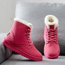 Kadın botları kış sıcak kar botları sahte süet çizmeler yarım çizmeler kadınlar için kış ayakkabı botları Mujer peluş ayakkabı kadın JXX57(China)