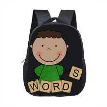 África Americano meninos impressão dos desenhos animados crianças escola bags brown afro ciência meninos do jardim de infância mochila pequena criança saco mochila(China)