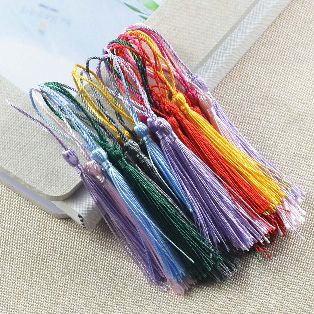 120pcs Tassels Trim For DIY Craft Sewing Costume Bookmark Decoration with Loop
