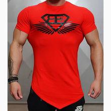 Mens fashion t-shirt Frühling sommer neue Freizeit shirts Fitness Bodybuilding langarm männlichen persönlichkeit Schlank t Tops kleidung(China)