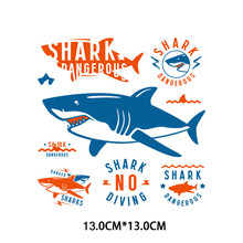 Espaço astronauta ferro em remendos diy transferência de calor vinil carta animais tubarão remendo para listras camiseta roupas adesivo f(China)