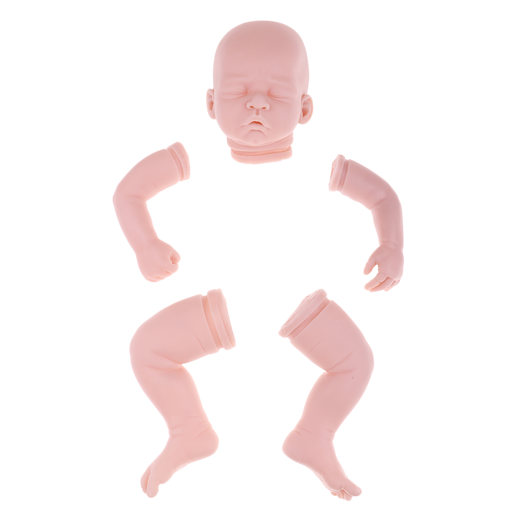 Real Life Newborn Baby Mold, Reborn Kits and Supplies - Head, 3/4 Arms and Full Legs, Close Eyes