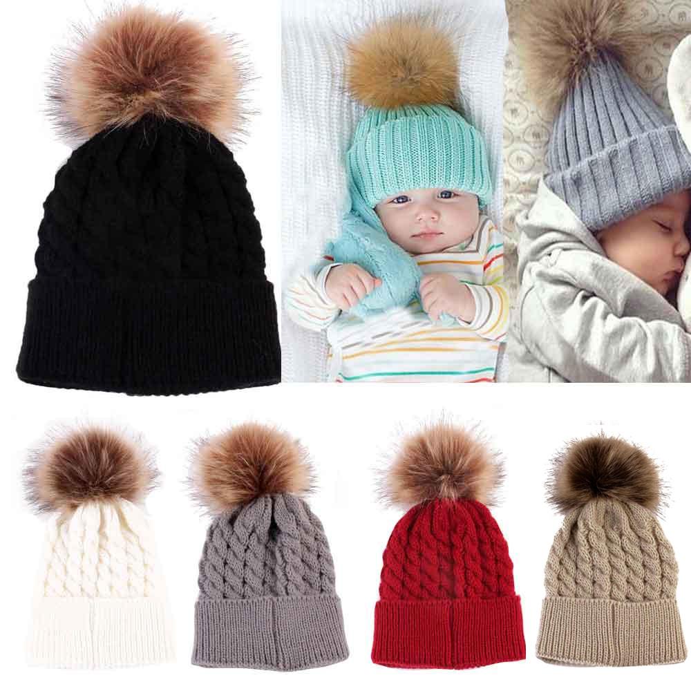 2019 Cute Baby Girls Infant Striped Cap Hospital Newborn Soft Bow Beanie Hat #J
