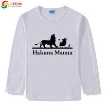 LYTLM هاكونا ماتاتا التي شيرت Roi الأسد الصبي بلايز الاطفال راجلان الطفلات القمصان طويلة الأكمام الأسد الملك الاطفال T قميص الأولاد(China)