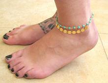 FENGLI boho muszla obrączki zestaw dla kobiet Turtle koraliki Vintage niestandardowe plaża Anklet Foot bransoletka 2020 stóp czeski biżuteria(China)