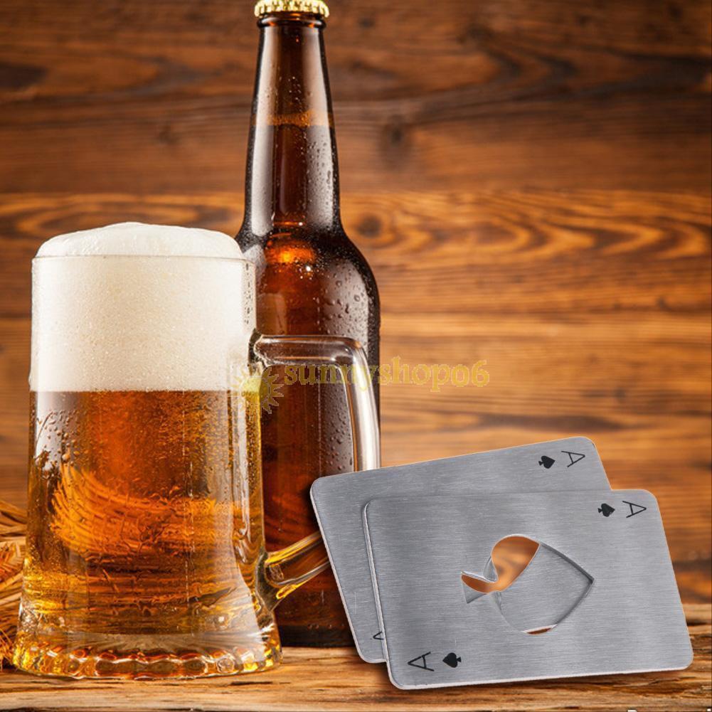 Bottle Opener, Novelty Spades A Poker Beer Opener Bottles Lid Remover for Bars, Parties, Restaurant