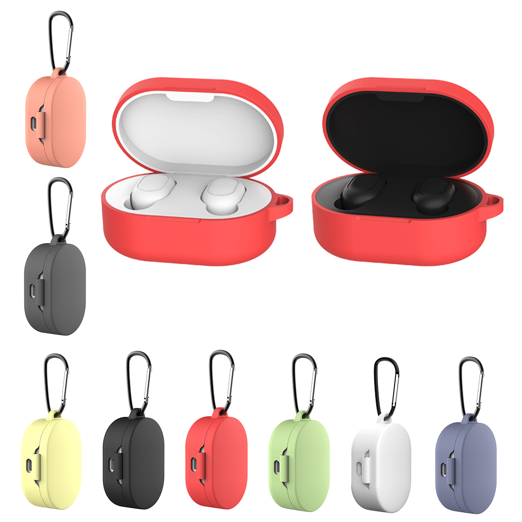 Silicone Protective Case Cover with Ring For Xiaomi MI Redmi AirDots Earphone