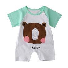 الصيف ملابس الطفل الكرتون سروال قصير للأطفال الرضع بذلة وتتسابق ملابس فتاة حللا 0-18 متر الوليد الرضع طفل صبي الفتيات القماش(China)