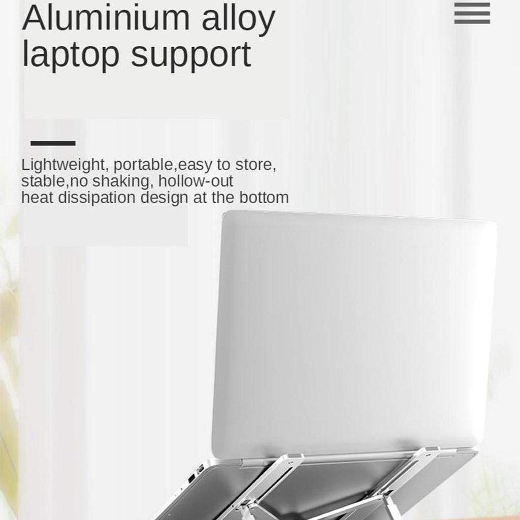 Laptop Bracket Aluminum Radiator Cervical Folding Portable Laptop Base