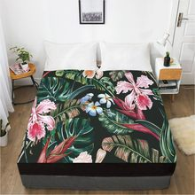 3D Fitted Sheet Custom Single Queen King Size Bed Sheet With Elastic Mattress Cover 180x200 Bedding Rose Microfiber Drop Ship(China)