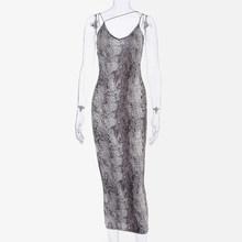 Sexy Frauen Leopard Print Spaghetti Strap Backless Bodycon Kleid EINE Linie V-ausschnitt Mantel Weibliche Sommer Kleider Dame Schlank Vestidos(China)