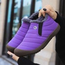 2019 Musim Dingin Sepatu Wanita Sepatu Anti Slip Sendok Sepatu Boot Wanita Tahan Air Wanita Sepatu Bot Salju Super Hangat Bulu Wanita Sepatu Zapatos De mujer(China)