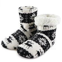 Kış ayakkabı kadın yarım çizmeler sıcak kürk slaytlar kapalı ev ayakkabı noel kadın ayakkabıları zemin ayakkabı Pantuflas Mujer(China)