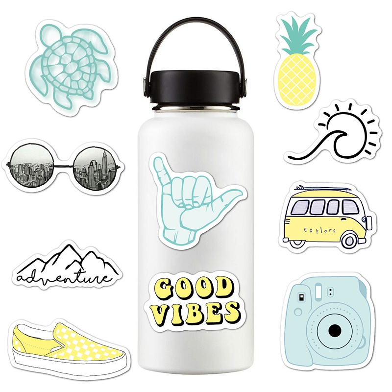 VSCO Yellow Stickers Cute Laptop Water Bottles Mug Flask Decal for Teens Girls
