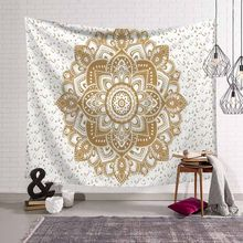 229x150cm Large Mandala Indian Tapestry Wall Hanging Bohemian Beach Towel Polyester Thin Blanket Yoga Mat Rug Shawl Throw Sheet(China)