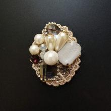 FFLACELL Vintage Barocco Corte Vento Distintivo Frangia Spilla Tessuto di Lavoro A Maglia Arco Trapano Maglione del Cappotto Accessori Donna Dei Monili Della Ragazza(China)