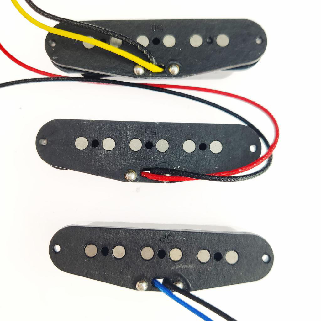 High Output Guitar Pickup Single Coil Humbucker Pickups Neck Middle Bridge Set Staggered White