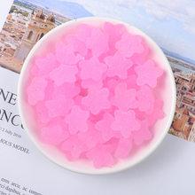 10 cái/lốc Nhựa Mềm Ngôi Sao Giả Thực Phẩm Kẹo Vòng Cổ Hạt Charm Móc Khóa Bông Tai Trang Sức Mặt Dây Chuyền Cabochons Hạt 18mm(China)