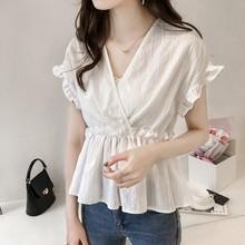 M-4XL женская блузка большой размер модные свободные топы рубашки(China)