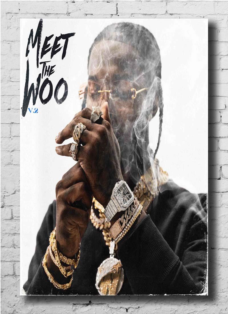 Pop Smoke Hot Singer Music Rapper Album Fabric Poster 20x30 27x40 32x48 Art Z-16