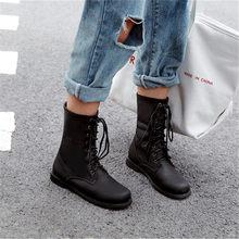 Odetina แฟชั่นผู้หญิง Lace Up ข้อเท้ารองเท้าฤดูใบไม้ร่วงฤดูใบไม้ร่วงฤดูใบไม้ร่วงฤดูใบไม้ร่วงสุภาพ...(China)