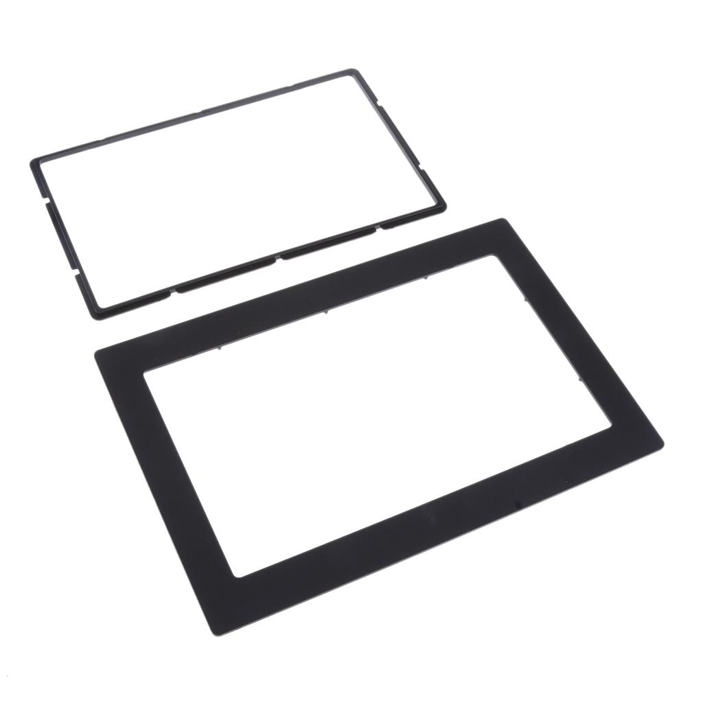 Lovoski Universal Car Radio Fascia Panel Frame For 2-DIN Instal 211x138mm