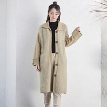 DMLFZMY 2019 nuovo autunno e inverno donne maglione cardigan di spessore cappotto allentato casuale risvolto lungo di lana di tendenza Coreano versione 549(China)