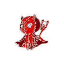 Red Devil Bermutu Tinggi Paduan Menetes Briooch dan Enamel Pin Kreatif Red Devil Bros(China)