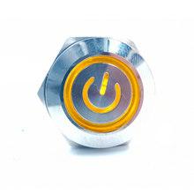 16 Mm Self-Locking Tahan Air Logam Push Button Switch dengan Lampu LED 3 ~ 6V 12 ~ 24V 110V 220V Biru Merah Kuning Hijau Putih(China)