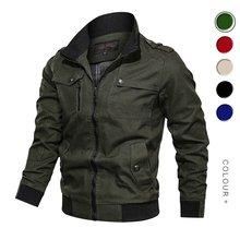 남성 폭격기 재킷 캐주얼 밀리터리 재킷 코트 가을 겨울 슬림 피트 윈드 브레이커 남성 지퍼 육군 전술 재킷 겉옷(China)
