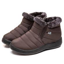 Mắt Cá Chân Giày Cho Nữ Giày Lông Ấm Ủng Nữ Mùa Đông Giày Nữ Chống Thấm Nước Đệm Giày Mùa Đông Boot Nữ Giày(China)