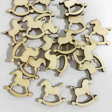 10PCS/ Lot Snowflake Star Santa Claus Boots Bells Christmas Tree Hanging Wooden Ornaments Party Christmas Decorations for Home(China)