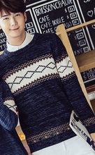가을 겨울 기본 착용 풀오버 스웨터 연인을위한 여성 남성 커플 의류 슬림 귀여운 스트라이프 니트 커플 스웨터(China)