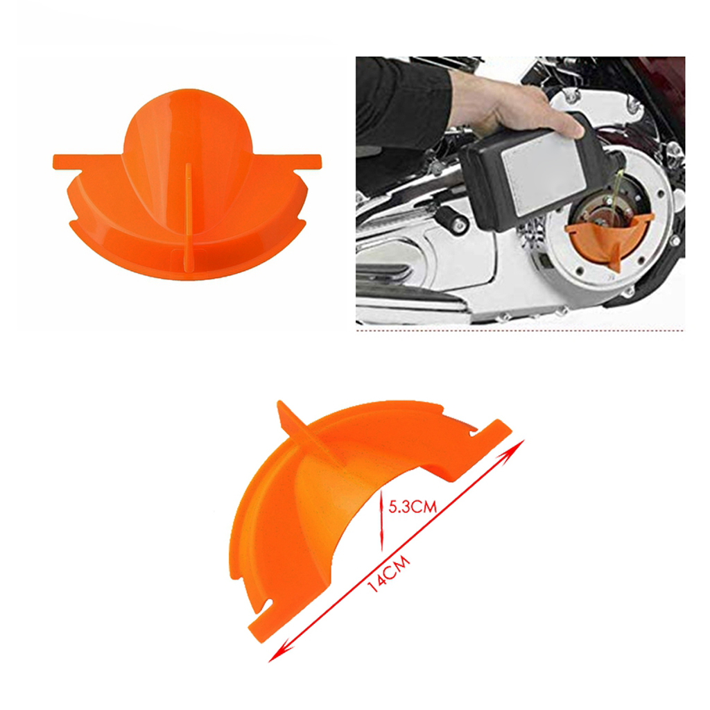Drip-Free Oil Filter Funnel + Primary Case Oil Filter Drain Funnel Repair Tools for Motocycle , Orange