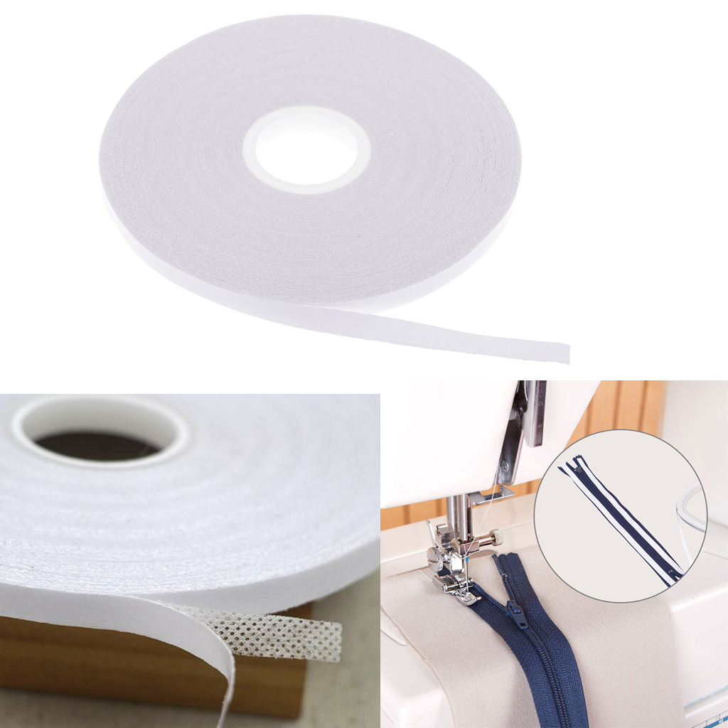 2x 20 Meters Sew Easy Double-sided Transparent Wash-Away Quilter Tapes 6mm for Cloth, Clothing , Patchwork DIY Temporary Fixing