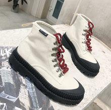 AIYUQI 2019 Yeni Motosiklet Botları Martin Çizmeler Kadın İngiliz Tarzı Askeri Ayakkabı Sonbahar Kore Vahşi Kanvas Botlar Kadınlar(China)