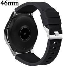 Sport silikonowy pasek taśma do Samsung galaxy watch 42mm dla galaxy watch 46mm wymiana gumy pasek na rękę bransoletka 20mm 22mm(China)
