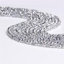 Banyak Warna 4 Mm Crystal Beads Bulat Glass Beads untuk Perhiasan Membuat Diy Buatan Tangan Anting-Anting Gelang Grosir Aksesoris(China)