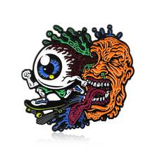 Spilla Spille Ragazze angry Genitali Geisha Donna Bulbo Oculare Monsters Cadavere Blu Alien Donna Inizia Oggi Lettera Dello Smalto Spille s Distintivo brosa(China)